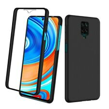 SDTEK Case for Xiaomi Redmi Note 9S / Note 9 Pro Full 360 Cover Front and Black