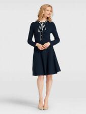 Draper James Sailor Bow Sweater Dress, Nassau Navy, Large, NWT