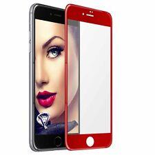 Cristal Templado Vidrio 5D para Apple iPhone 7 / iPhone 8 (4.7'')  - rojo