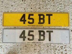 45BT Private Number Plate