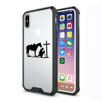 For Apple iPhone X XS Max XR Clear Shockproof Case Cowboy Praying Cross Horse
