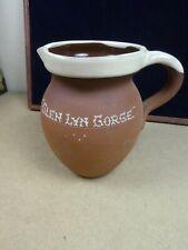 More details for vintage farmhouse terracotta jug pitcher royal barum ware, 'glen lyn gorge'