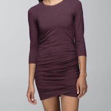 LULULEMON ANYTIME DRESS BORDEUX DRAMA Size 10❤️SUPER FLATTERING ❤️RARE
