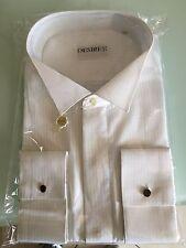 Camicia Uomo Classica 100% Cotone Tg. 39,45, Bianca modello Diplomat
