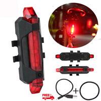 Éclairage Pour Vélo USB Rechargeable-Lampe Arrière LED Pour Vélo-Lampe Arrière