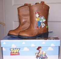 Disney BOYS Toy Story Cowboy BOOTS Woody Buzz Rodeo Halloween Costume Shoes NEW