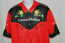 Louis Garneau Men's Large Red Conoco Phillips Western S/S Floral Cycling Jersey