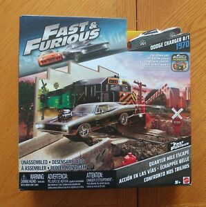 Fast & Furious Quarter Mile Escape Playset Includes 1970 Dodge Charger-NEW