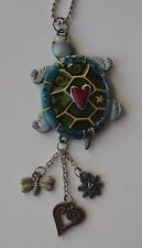 a TURTLE heart love color CAR MIRROR CHARM JEWELRY REAR VIEW ornament ganz
