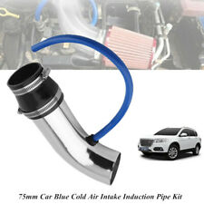 1x 75mm Car Cold Air Intake Induction Pipe Kit Filter Tube System+Fixed Bracket