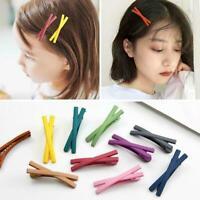 1Pcs Cute Kids Girls Hair Pins Frosted Snap Hair Clip Girl Barrettes Kids E2C9