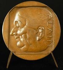 Medaille ΨΥΧΗ ΣΩΜΑ Le corps et l'âme au philosophe Alain 1948 sc H Navarre medal