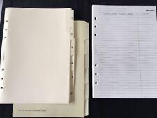 Filofax-A5 1-6/Divisore in bianco crema CARD PVC Tipped/foderati/indirizzo Pack