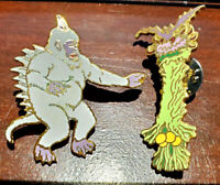 2 FOR 1 SALE! Vintage Star Trek Cloisonne Pin Set of 2-Beau Weeper/Mugato(27/32)