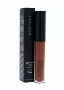 bareMinerals Gen Nude Patent Lip Lacquer Hype FULL SIZE New in Box
