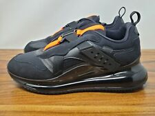 Nike Air Max 720 Slip Obj DA4155-001 Negro Negro total Naranja * Nuevo Para hombres Talla 10