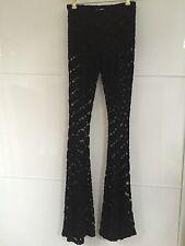 Hot&Delicious Black Lace Pants Size L