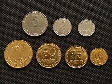 Ukraine SET 7 COIN, 1 2 5 10 25 50 Kopiyok 1 Hryvnia  UNC COIN Münze Europa