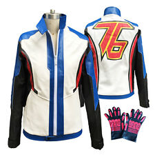 Hot Hero of OverWatch Soldier 76 Cosplay Costume Jacket Uniform Coat and Gloves