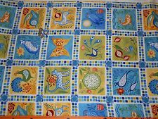 "By the Half Yard! ""Azuli"" Blue Panel Bohemian style fabric by In the Beginning"