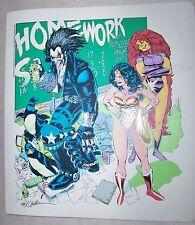 SUPER RARE 1992 DC COMICS 3 RING BINDER - WONDER WOMAN - SUPERMAN - BATMAN, ETC.