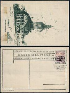 """1918 HUNGARY PPC """"Brassó/ Military Exhibition"""" BUDAPEST SZENTMARGITSZIGET"""
