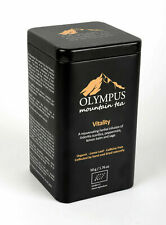 Vitality Olympus Mountain Tea. Organic Tea Herb Mix Metal Tin Box, 50g /1.76 oz