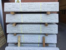 Concrete Gravel Board 6ft x 1ft - Rock Faced. Long eaton Fencing Nottingham