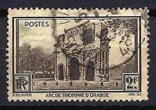 France 1938 Arc de Triomphe d'Orange Yvert n° 389 oblitéré 1er choix (1)