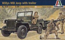 Italeri 1/35 scale Willys MB Jeep avec remorque