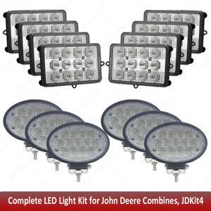 For John Deere Combine LED Upper Cab Light Kit 9450,9550,9650,9560,9660,9660CTS
