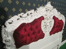 Mahogany Rococo Headboard suitable for Double or King size Divan Base bed
