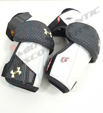 Under Armour Player Ss Lacrosse Arm Guards Large White/Black Psspagm-L-Wht