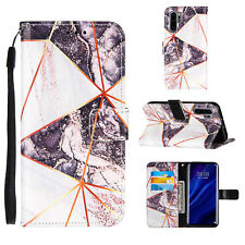 For Huawei P30 Lite P30 Pro P Smart Z Luxury Marble Flip Wallet Phone Case Cover