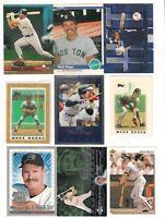 Wade Boggs Baseball Card Lot 1984-2002 Fleer 1984,Topps Mini x 2,Red Sox HOF