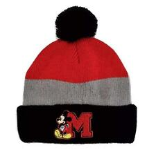 MICKEY MOUSE CLUBHOUSE DISNEY JR. Fleece-Lined Knit Beanie Winter Hat w/ Pom-Pom