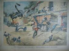 MACHINE AGRICOLE MANDCHOURIE TA-OUAN COMBAT COMTE KELLER  LE PETIT PARISIEN 1904