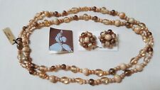 Glass Bead Necklace & Clip Earr. iL Doge Millefiori Glass Hand Made In India
