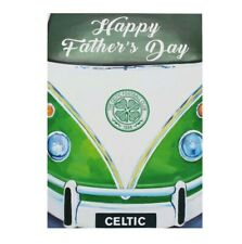 Celtic Football Club CFC Fathers Day Card Retro Camper Van VW Bay Treble Dad Gif