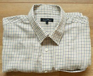 James Pringle Men's country style check shirt Size L Long Sleeve Good B24