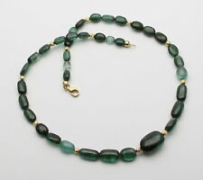 Turmalin-Kette blau-grün Halskette Verdelith Indigolith 48,5 cm Gemini Gemstones