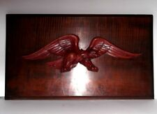 ARTIST SIGNED HAND-CARVED AMERICAN EAGLE PLAQUE Patriotic Flag xmas present gift