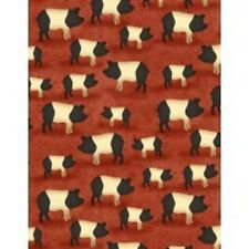 Wilmington The Way Home by Jennifer Pugh 82500 395 Red Pig Cotton Fabric