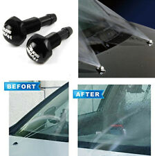 2Pcs Car Front Windshield Wiper Washer Hood Jet Strong Sprayer Nozzle Universal