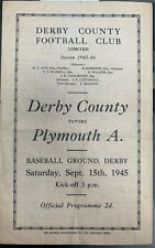 More details for derby county v plymouth argyle 1945/46