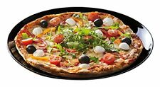 Plato para servir pizza amigos Time negro 32cm Luminarc