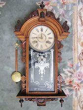 Antique Wm L-Gilber Columbia Wall Clock