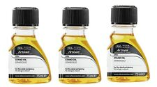 3 x Winsor & Newton Artisan Water Mixable Oil Stand Oil 75ml