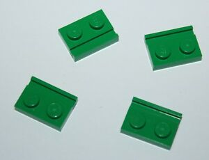 Lego Green Plate Modified 1x2 with Door Rail ref 32028 set 7595 8479 7133 8098