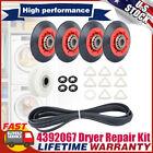 Dryer Repair Kit 4392067 w/ 4 Rollers Pulley & Belt For Whirlpool Kenmore Maytag photo